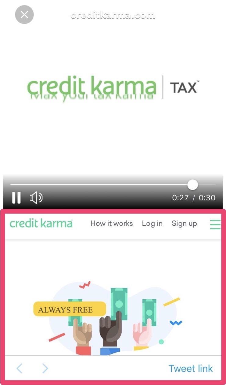 credit karma twitter advertisement