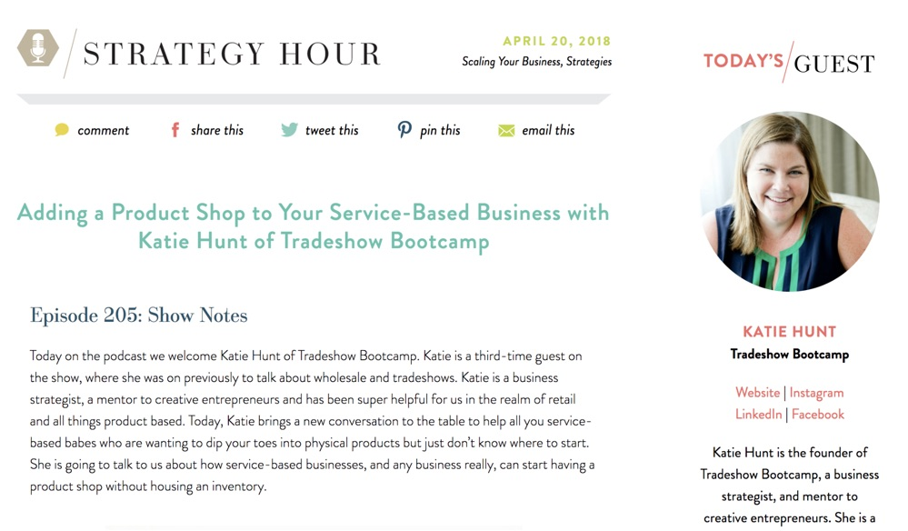 strategy hour podcast guest
