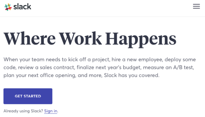 slack where work happens