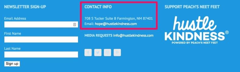 hustle kindness contact info