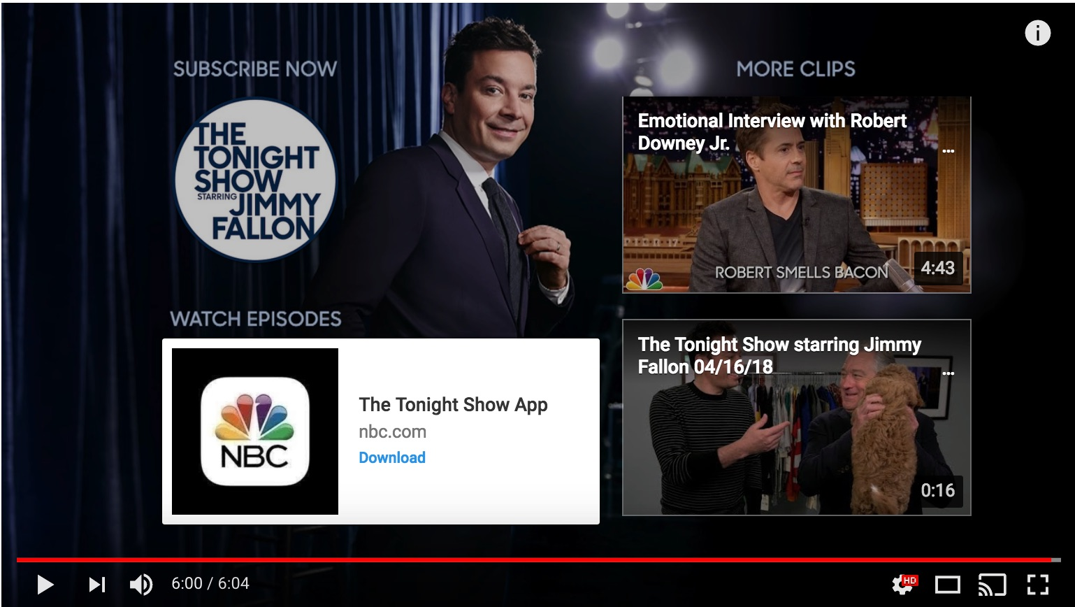 jimmy fallon youtube end screen