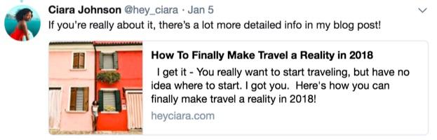 ciara johnson tweets blog post