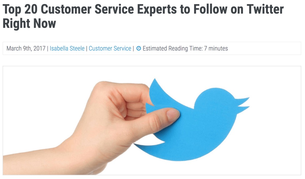 customer service experts on twitter