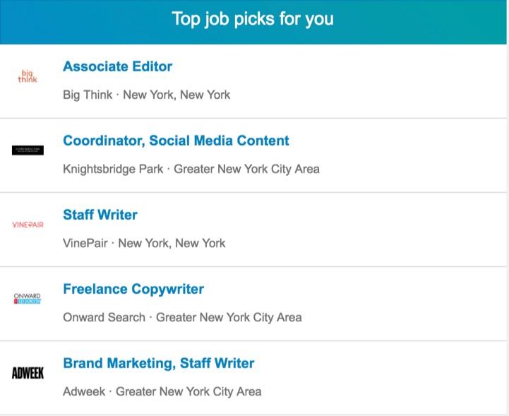 top job picks for you