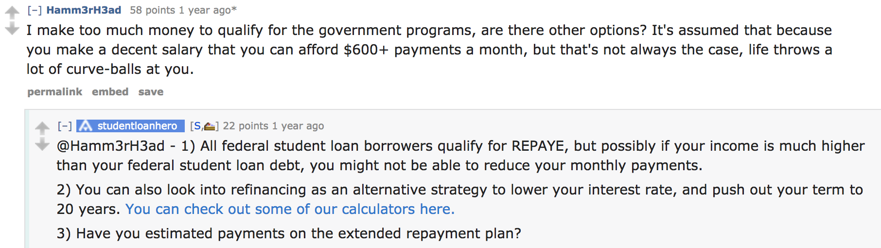 student loan hero AMA question and answer