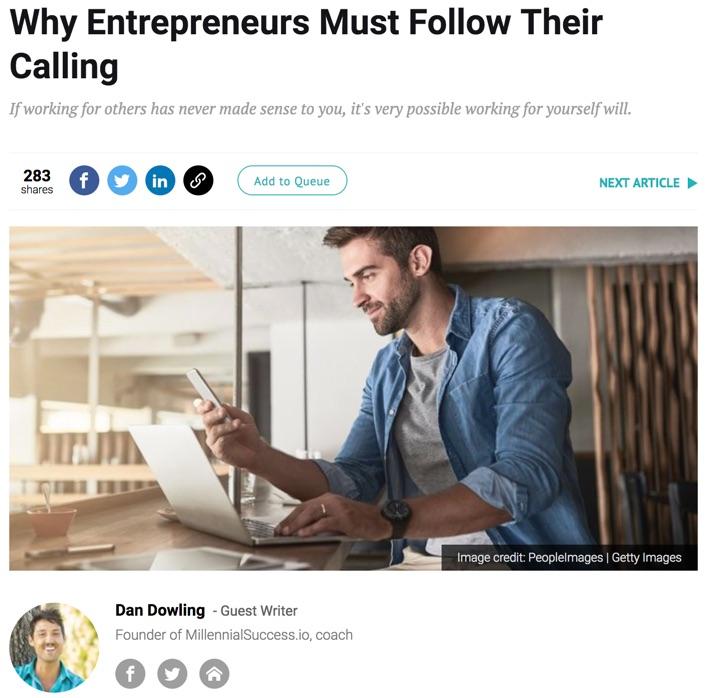 why entrepreneurs must follow their calling entrepreneur article