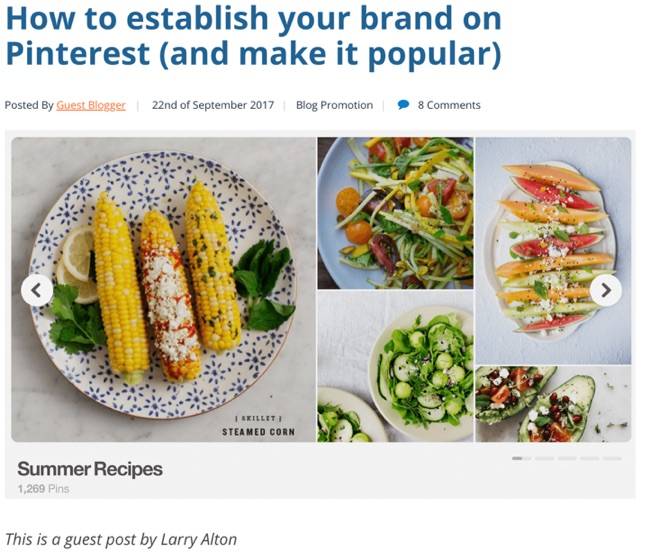 how to establish your brand on pinterest article