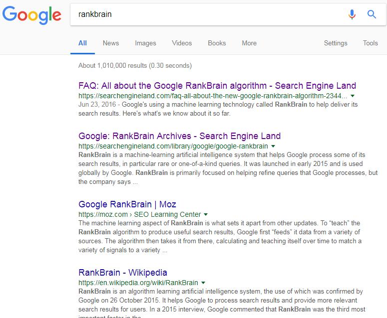 rankbrain google search