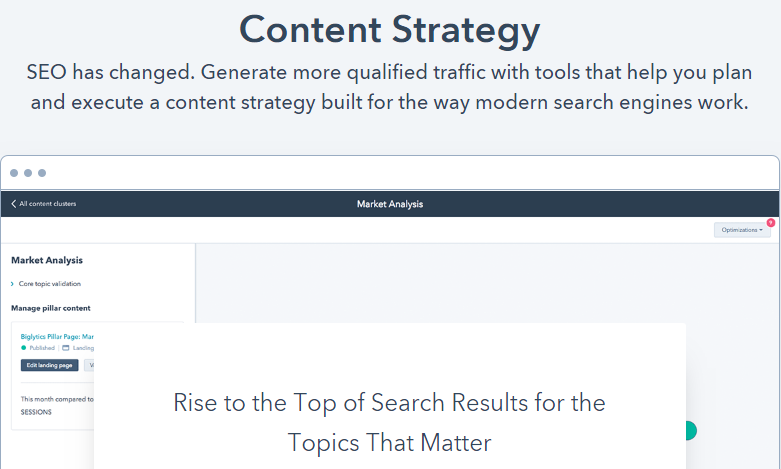 hubspot content strategy headline