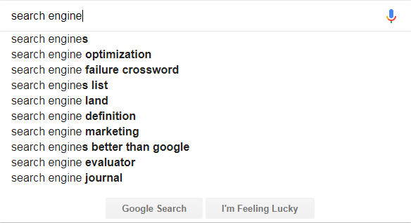 search engine autosuggest