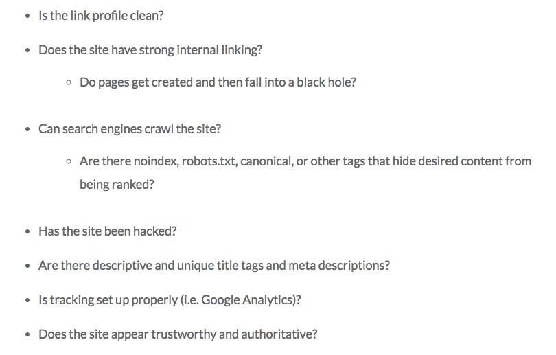 technical seo questions