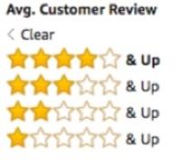 amazon customer review stars