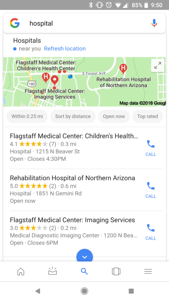 mobile search flag