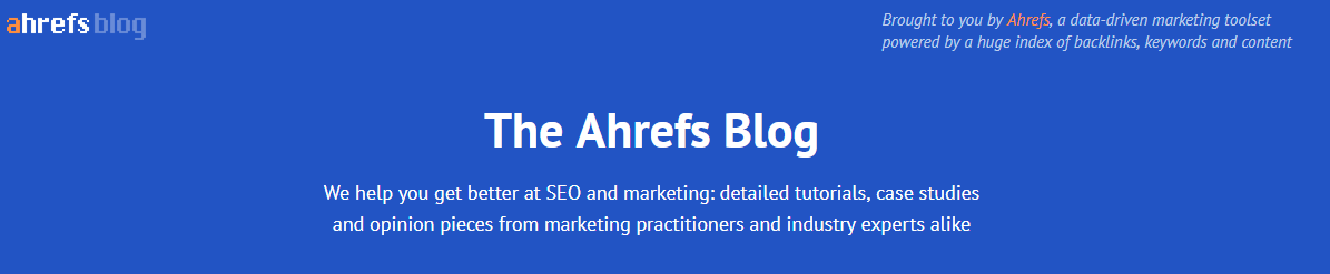 ahrefs blog header in 2018
