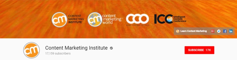 content marketing institute youtube header