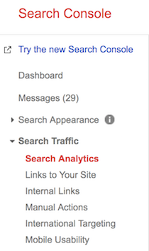 search traffic analytics