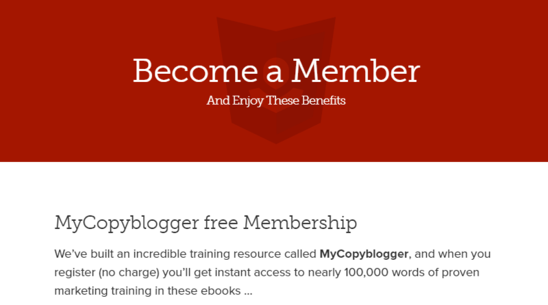 become a member copyblogger