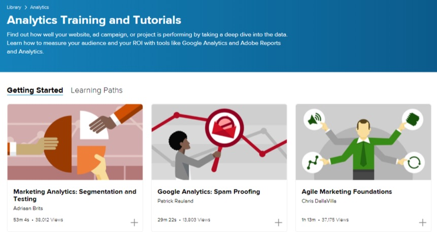 lynda analytics training