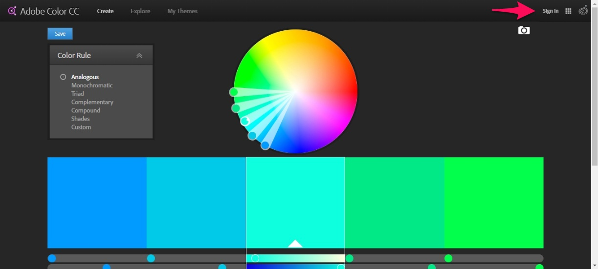 adobe color analogous