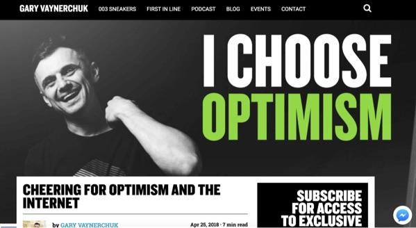 gary vee i choose optimism
