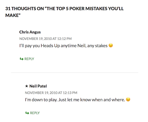 comments poker