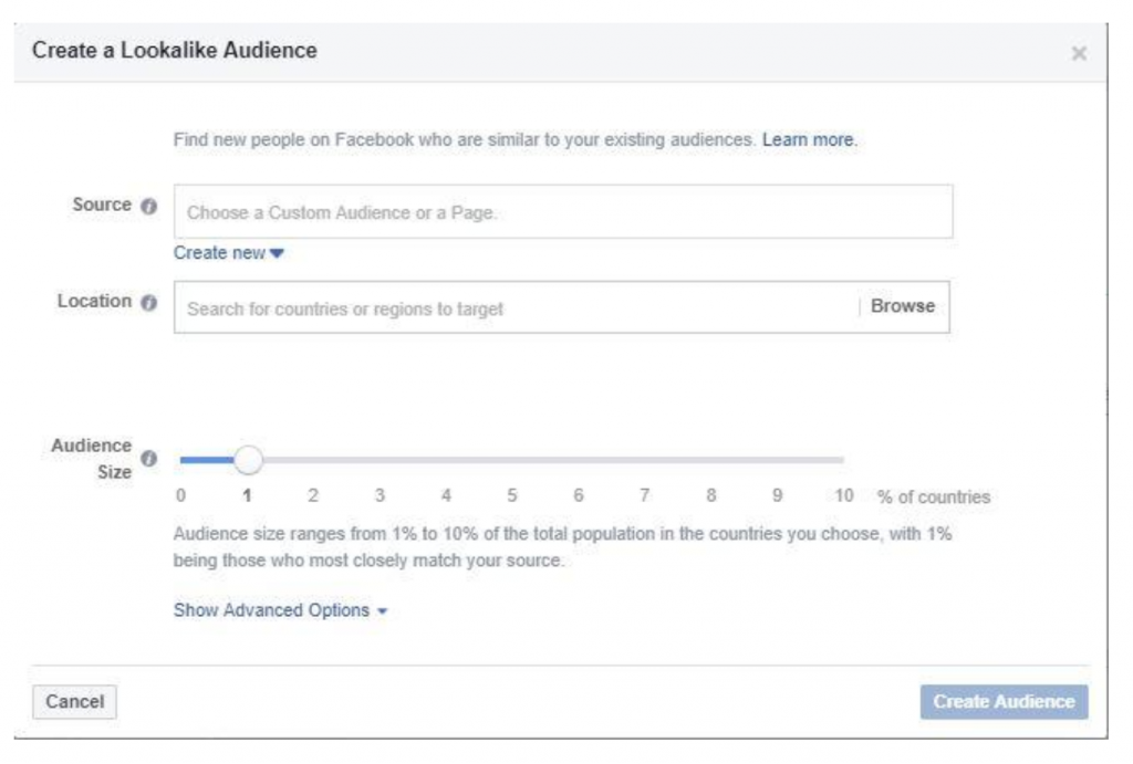 Lookalike audiences let you target people similar to your existing, custom audiences