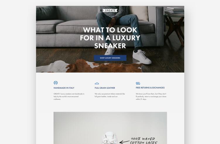 Best Landing Page Design: Greats
