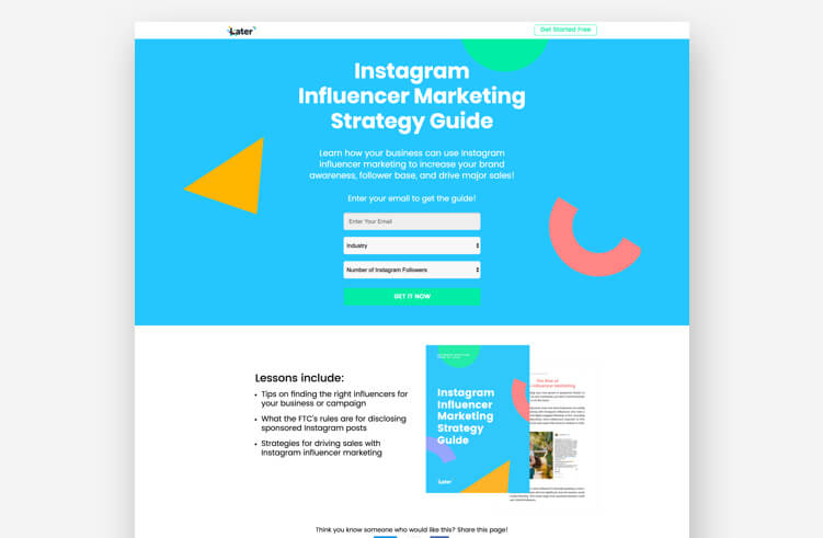 High-Converting Landing Page: Later