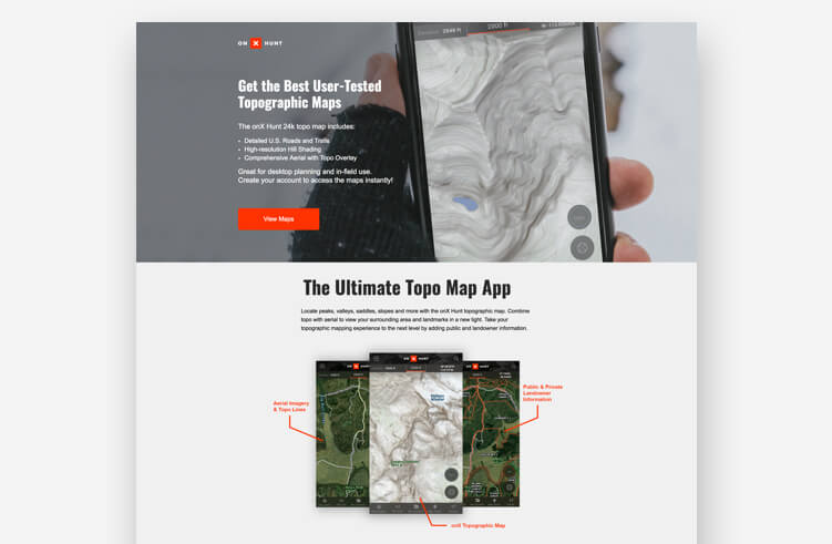 High-Converting Landing Page: onX