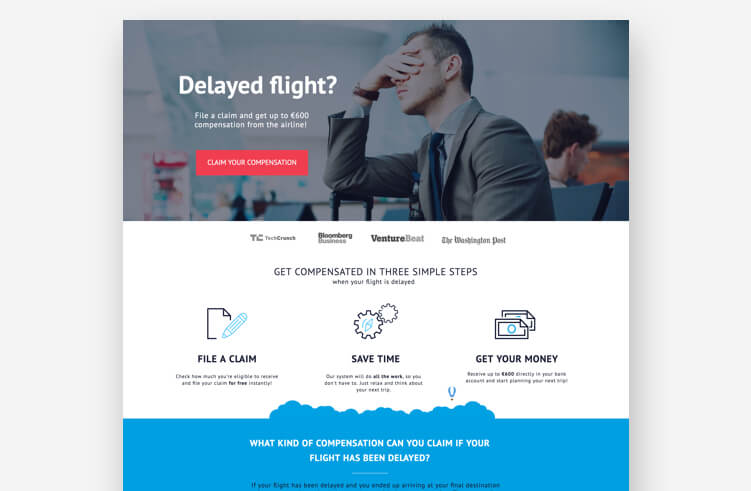 High-Converting Landing Page: ClaimCompass