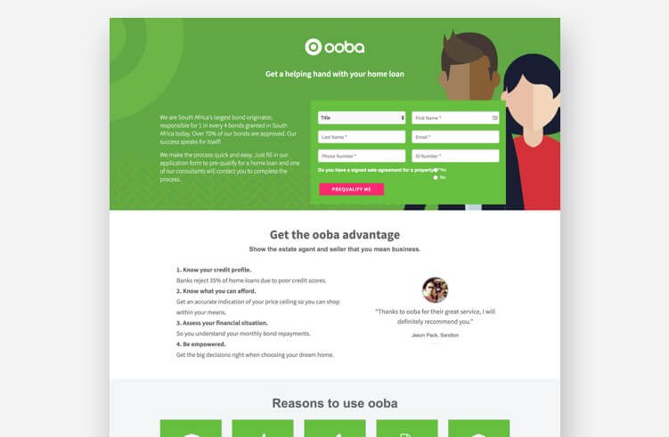 High-Converting Landing Page: ooba