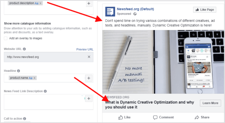 promoting blog posts on Facebook dynamic ads
