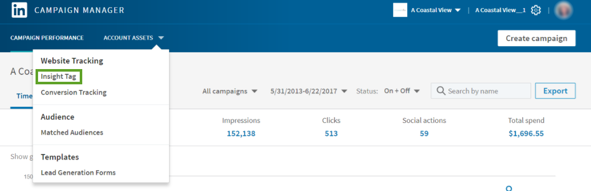 LinkedIn: Campaign Manager