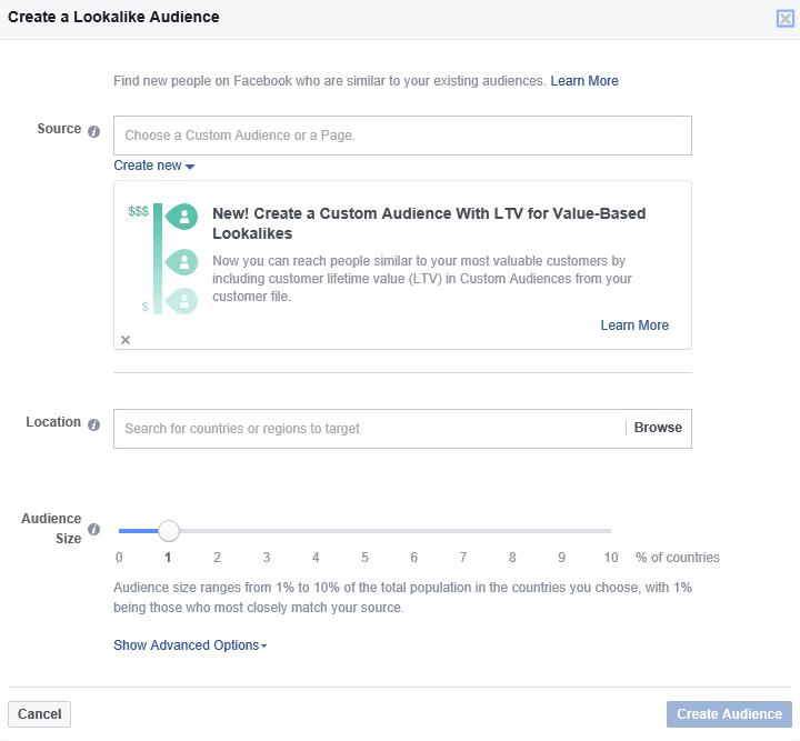 Facebook: Lookalike Audience