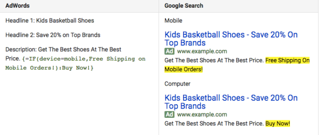Comparing AdWords and Google Search