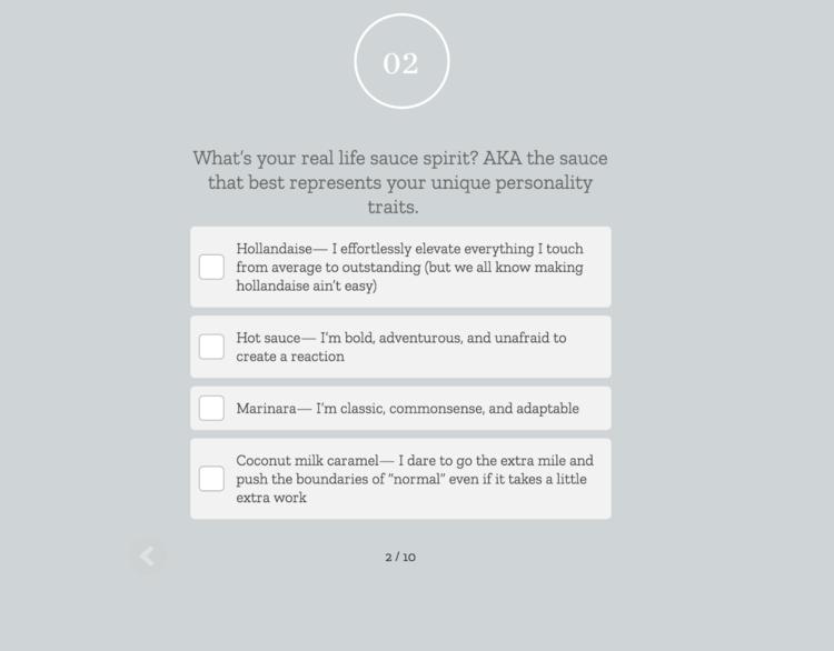 Creative Lead Gen Example Create a Quiz