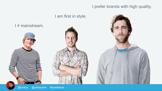 Personas let you tailor content to segmented audiences.