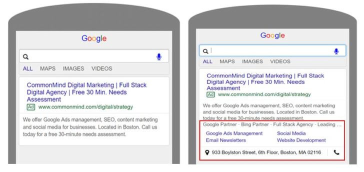 Importance of Google Ads extensions