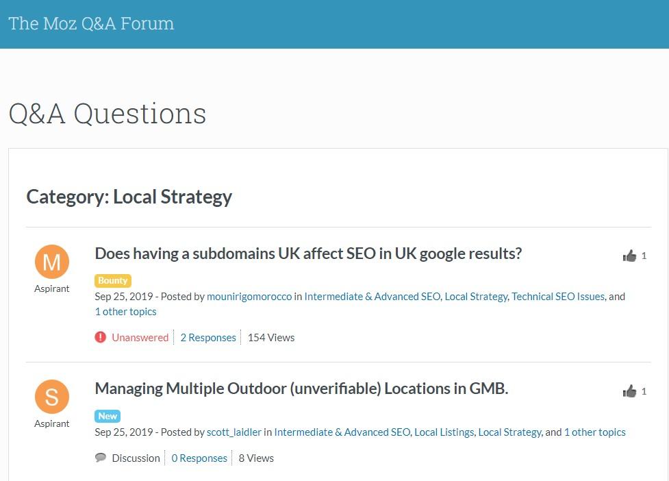 Moz Local Strategy Forum