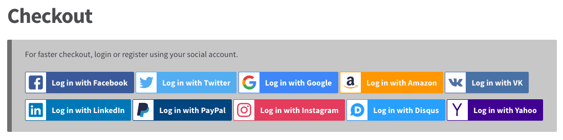Another example of social login