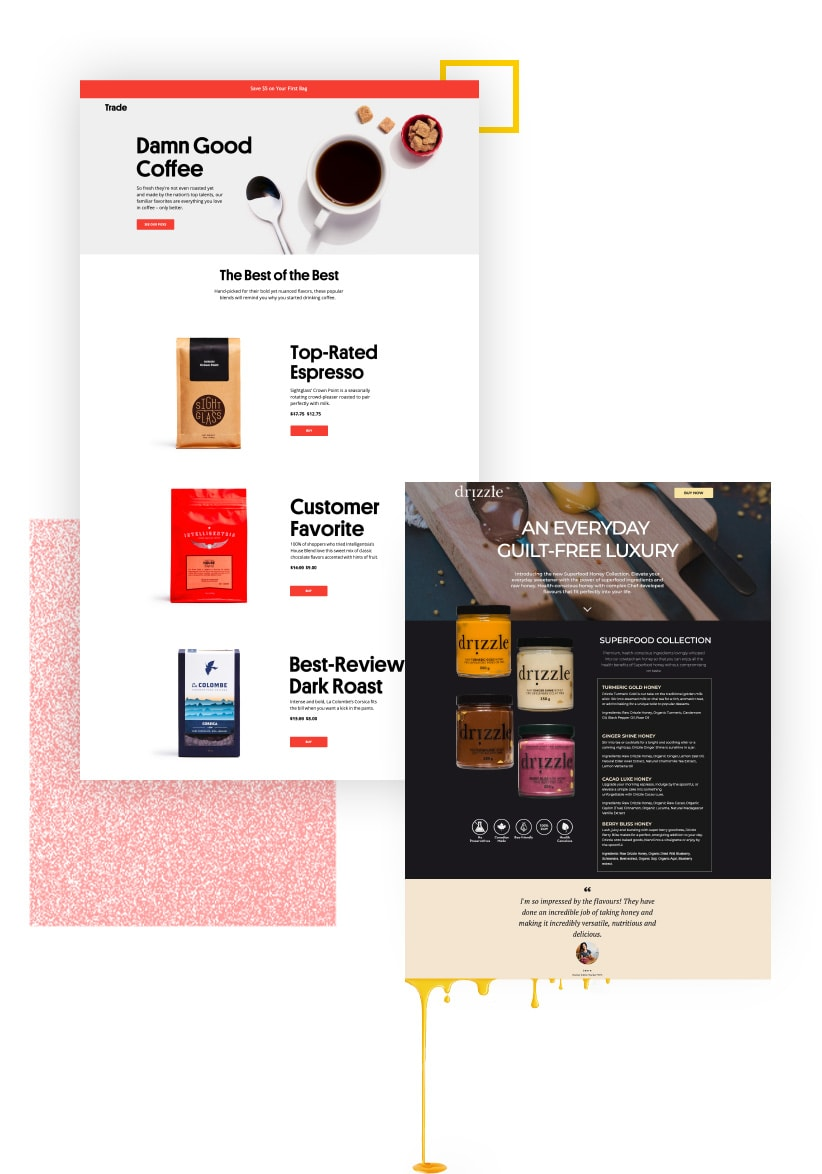Unbounce Ecommerce Landing Page Lookbook - Preview