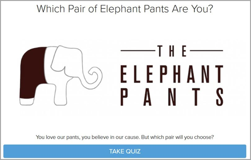 How to get the emails from Elephant Pants for personalized quizzes