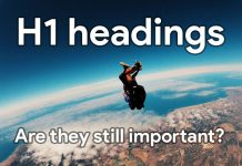 Are H1 headings still important?