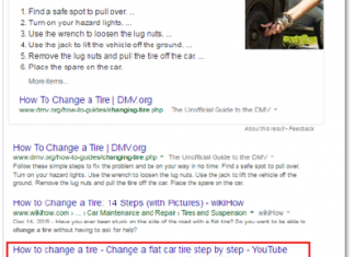 """Search results for a """"how to"""" video"""