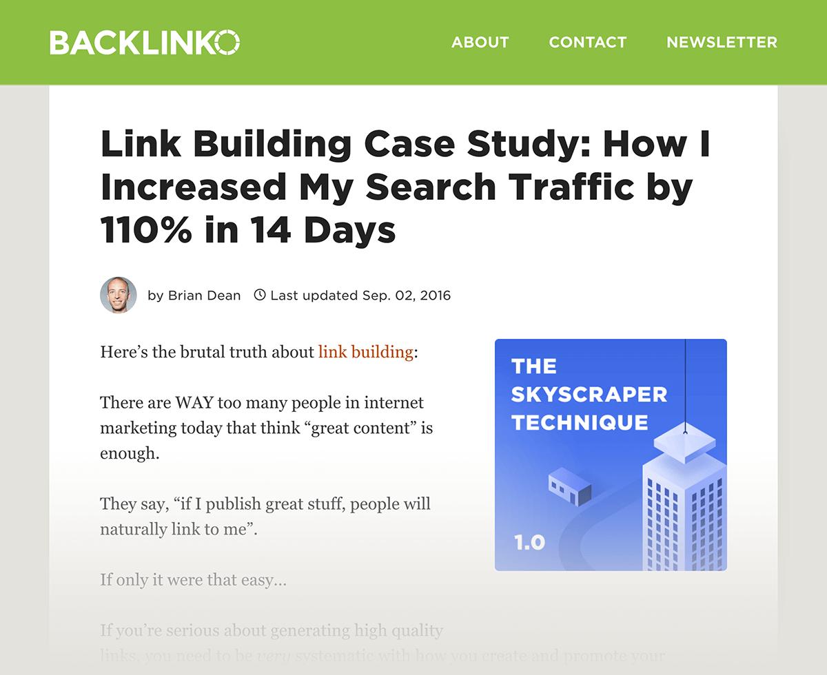 Skyscraper Technique post