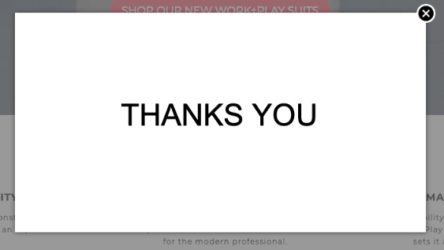 Typos are extremely common on thank you pages
