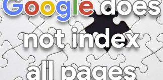 Google does not index all pages