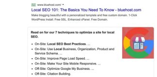 BrightLocal featured snippet