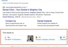 Dentists in Brighton EU SERP