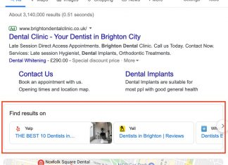Dentists in Brighton EU SERP